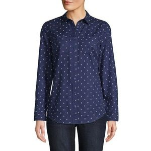 St. Johns Bay Womens Long Sleeve Relaxed Fit Shirt